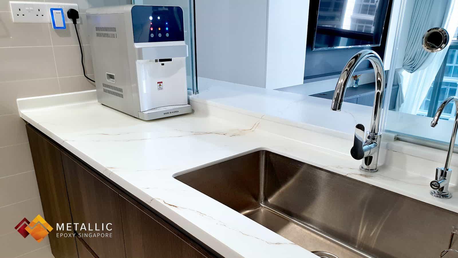 White Diamond Marble Countertop