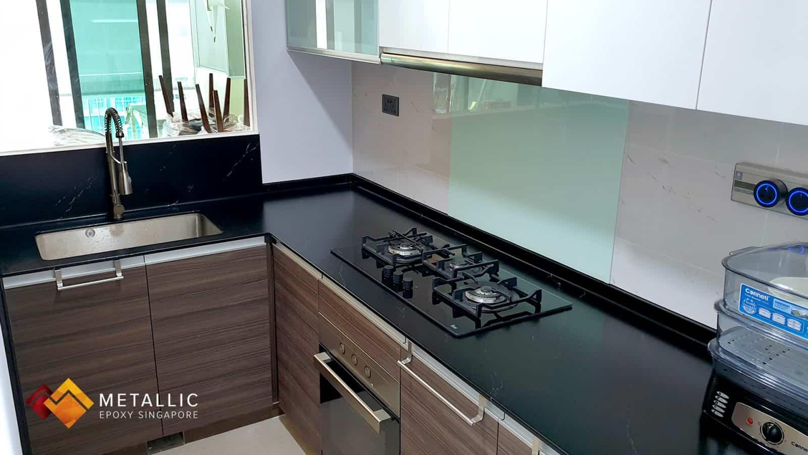 Ashford Black Marble Countertop
