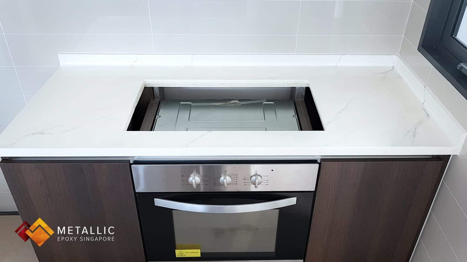 Blanco Ibiza Marble Countertop