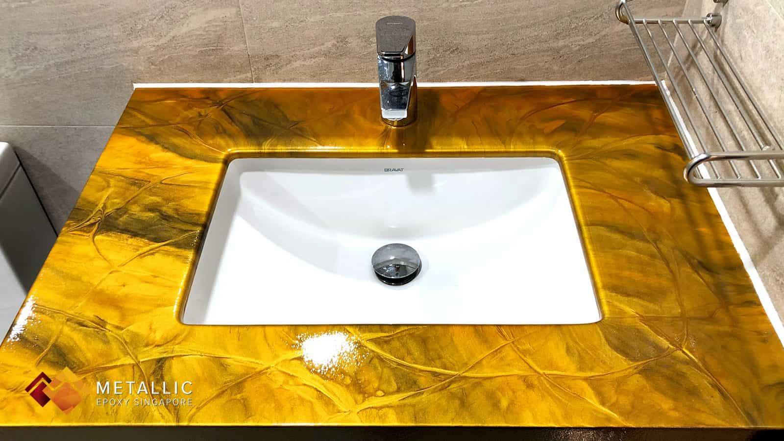 Sunflower Gold Vanity Top