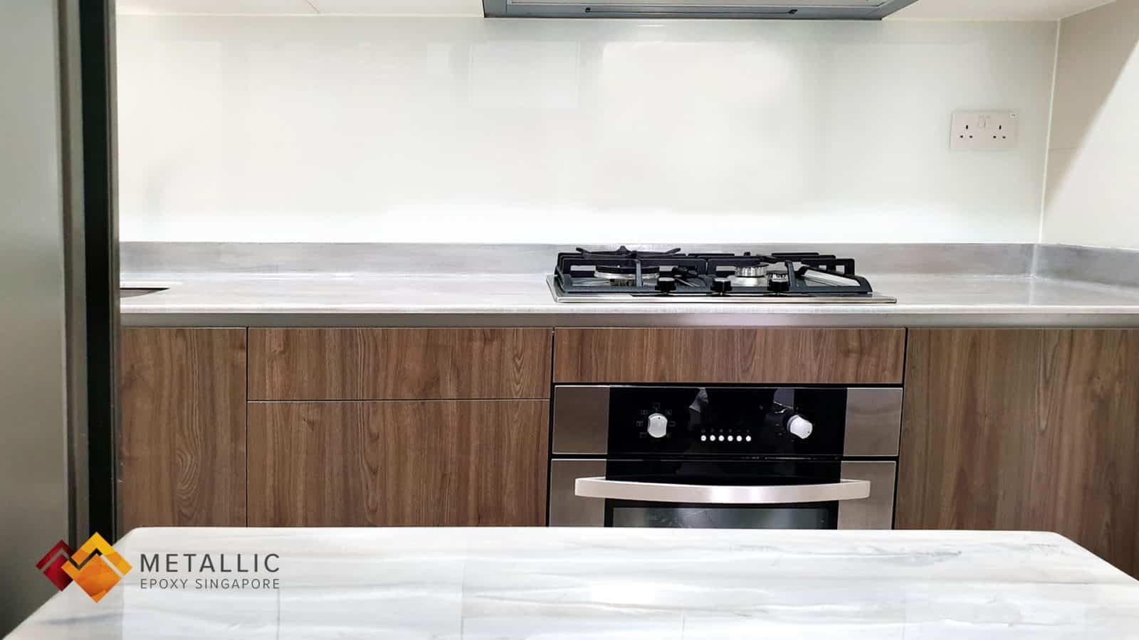 Grey Brown Wood Countertop