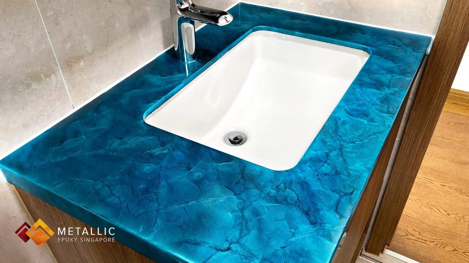 Turquoise Marble Vanity Top