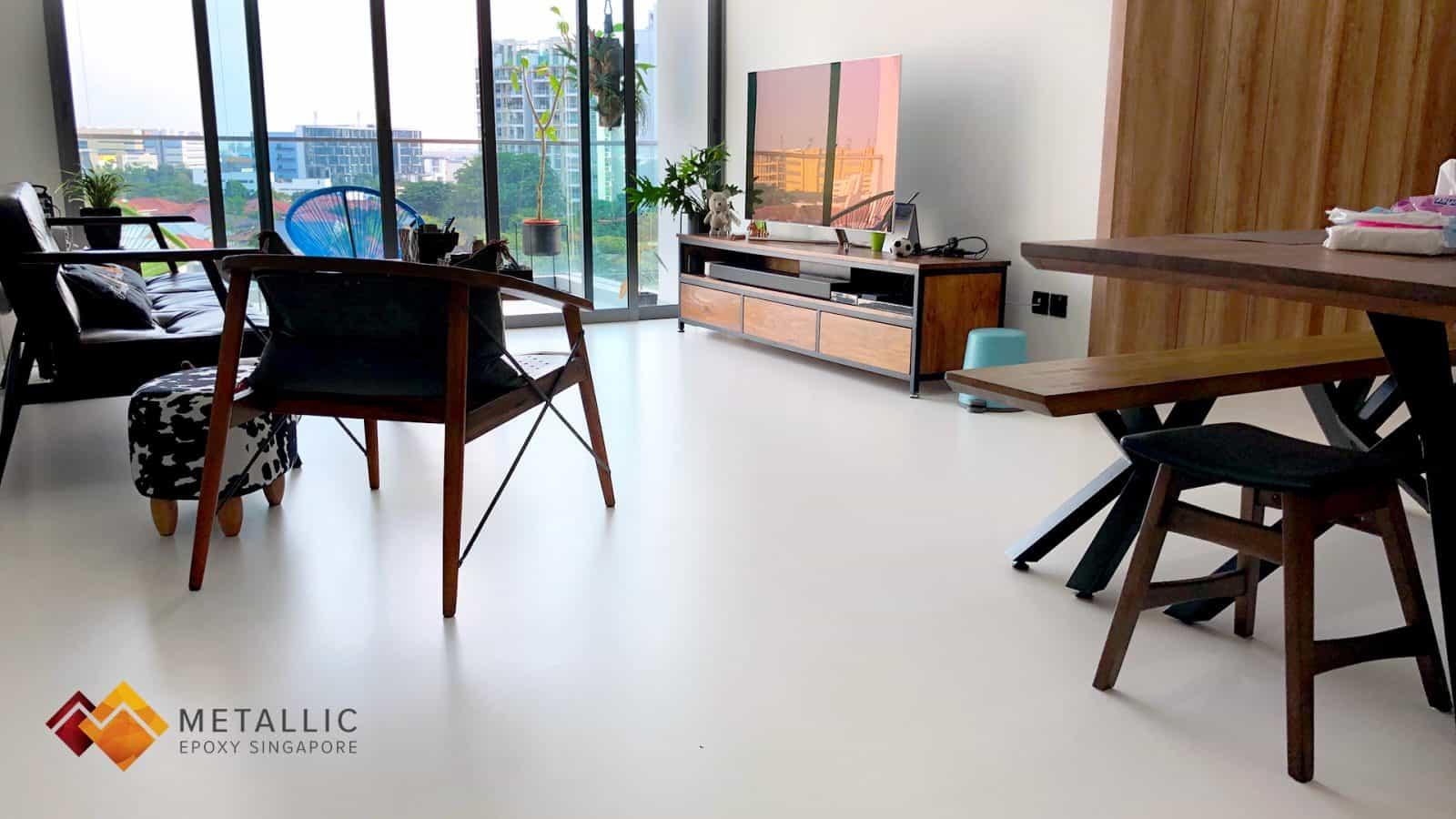Pure White Marble Theme Design Flooring