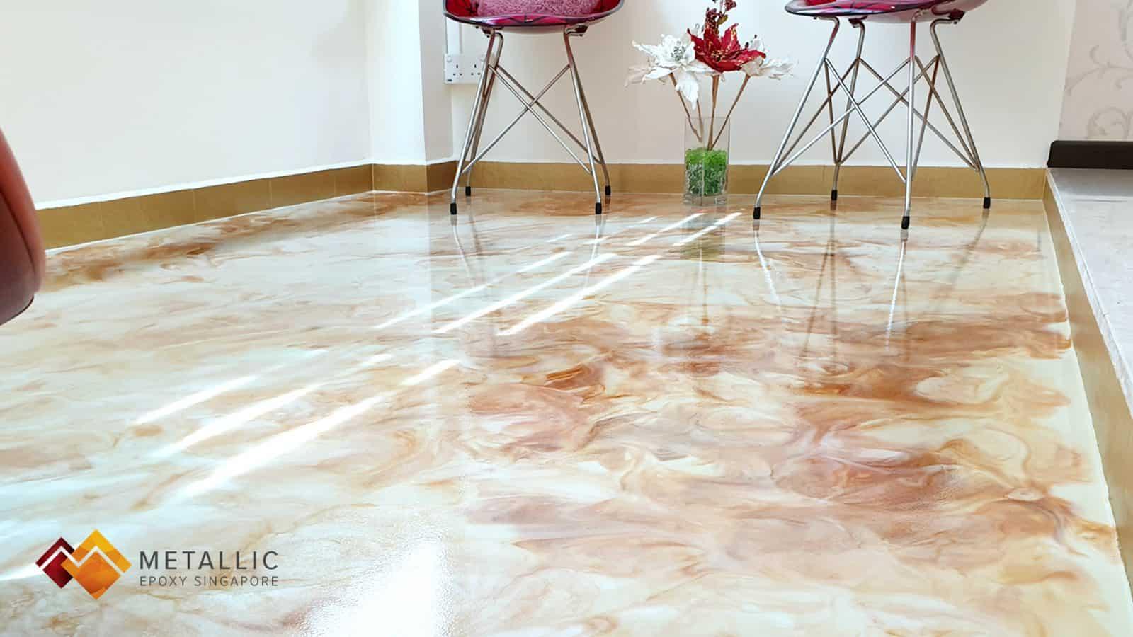 Snow White Gold Flooring