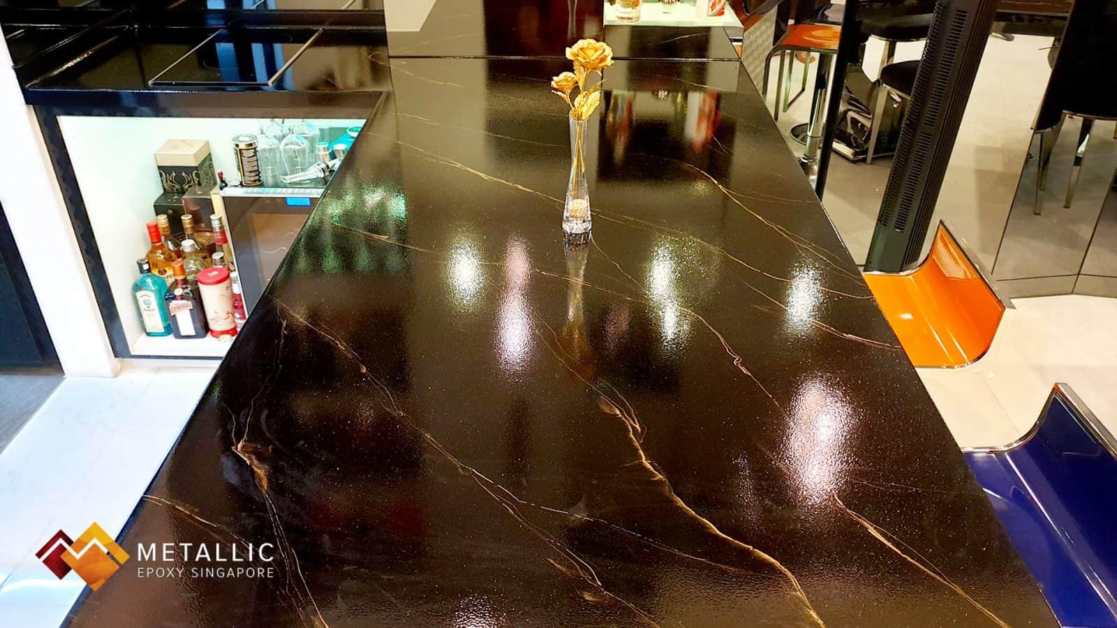 Golden Black Marble Countertop