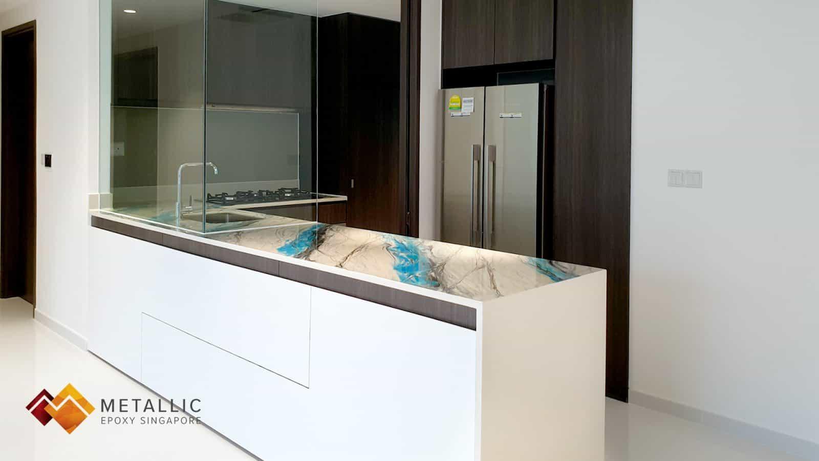 Vivid Blue Marble Countertop