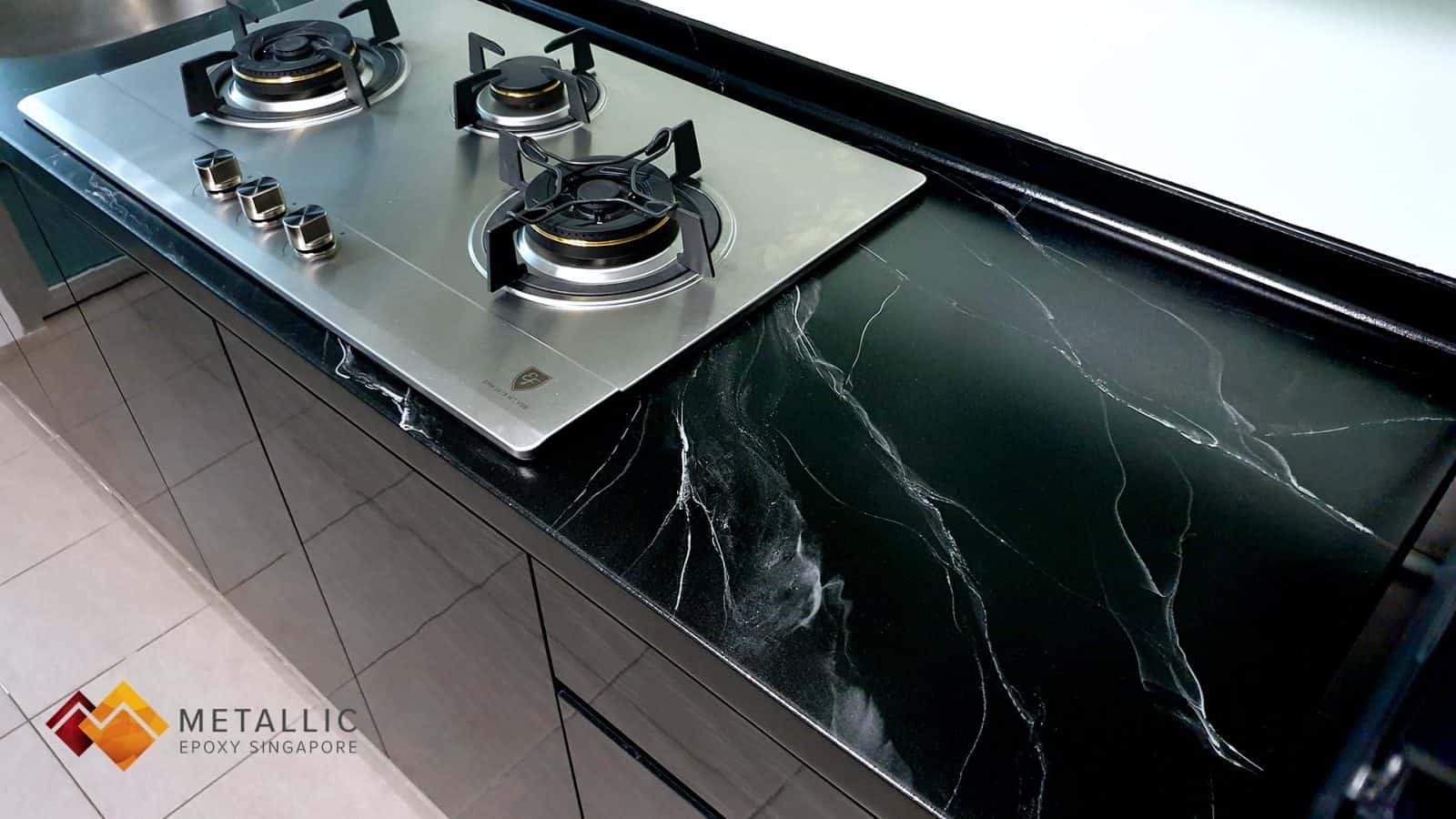 Marquina Black Marble Countertop