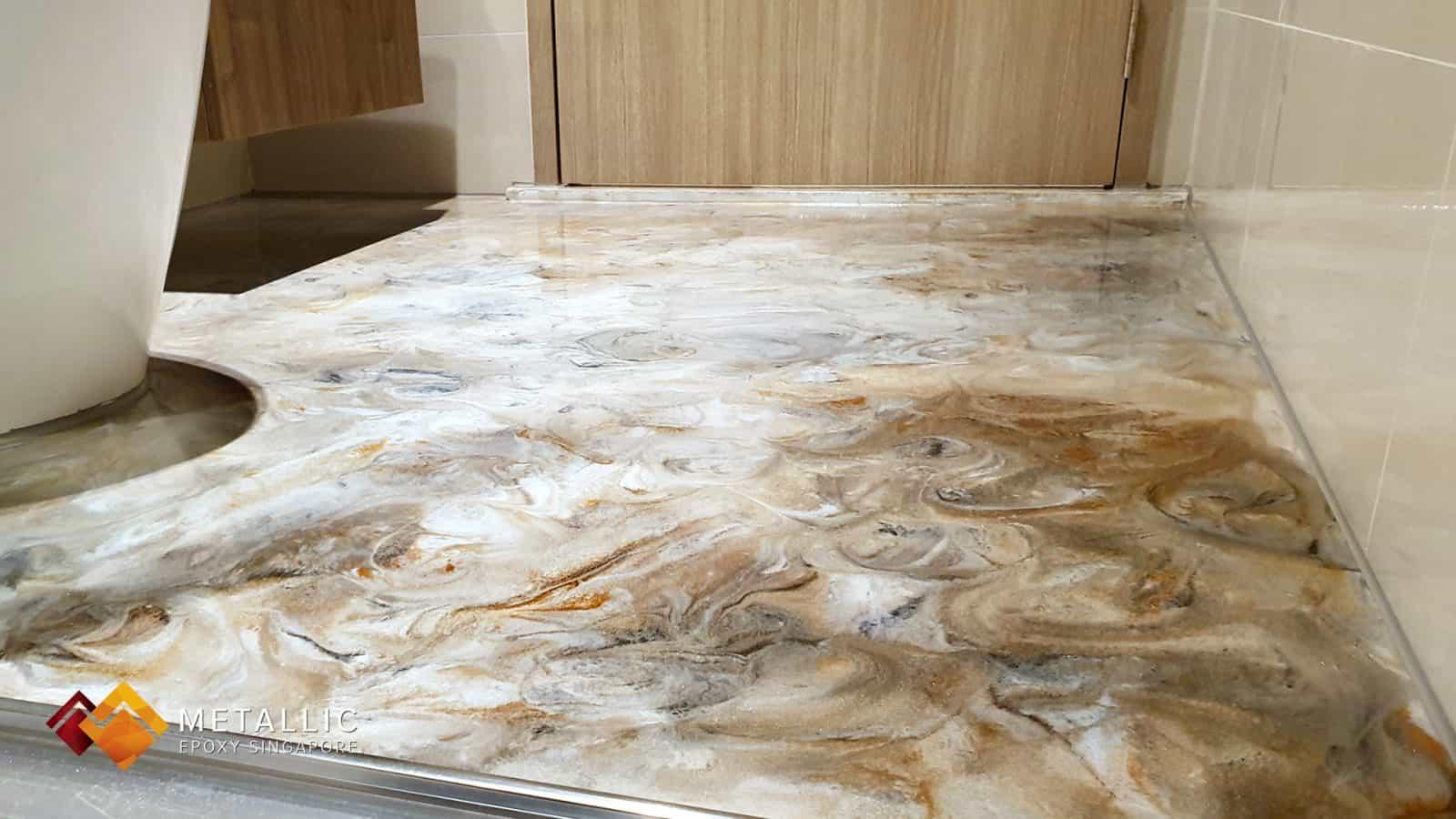 Stone Themed Bathroom Floor