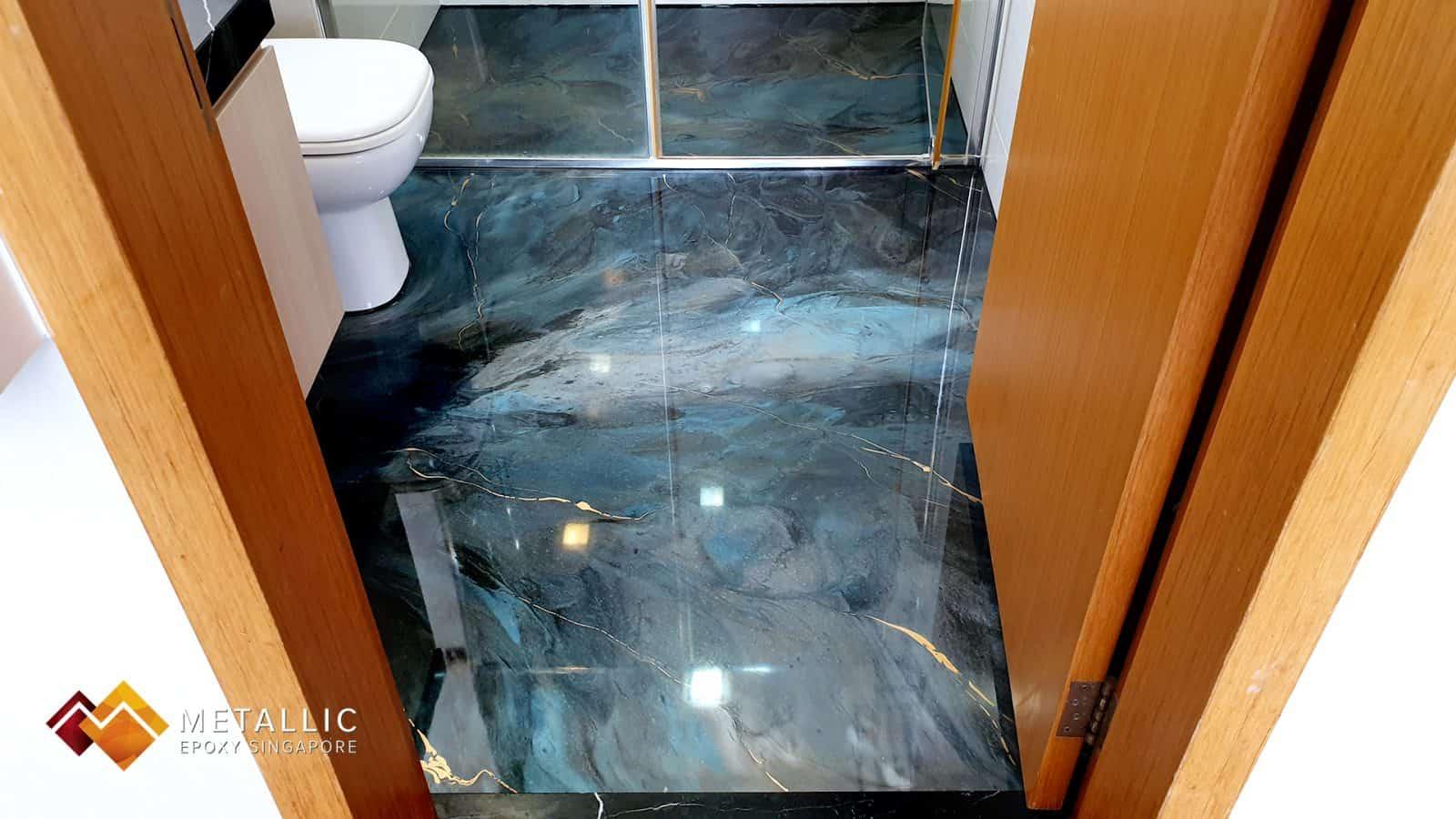 Grey Galaxy Bathroom Flooring