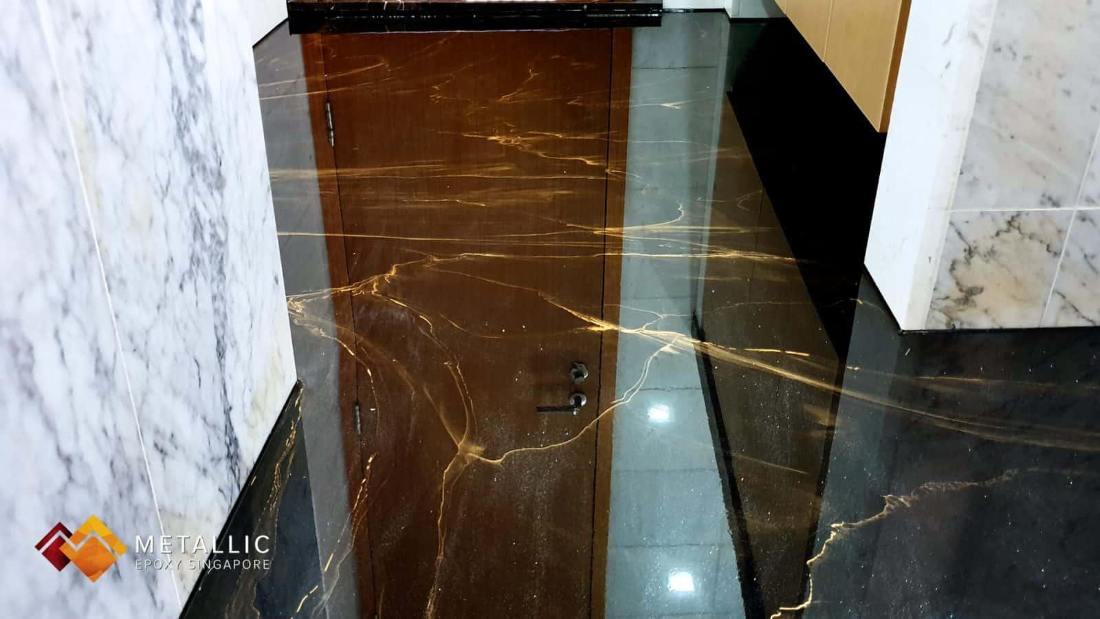Metallic Epoxy Bathroom Flooring