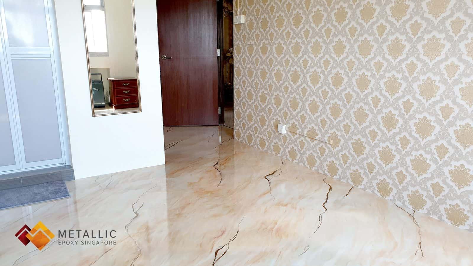Snow White Orange Flooring