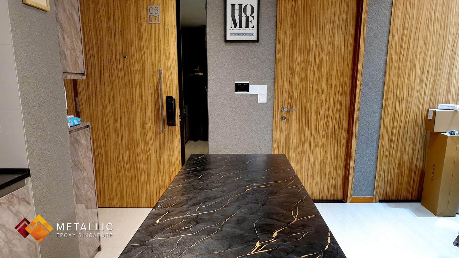 Metallic Epoxy Countertop