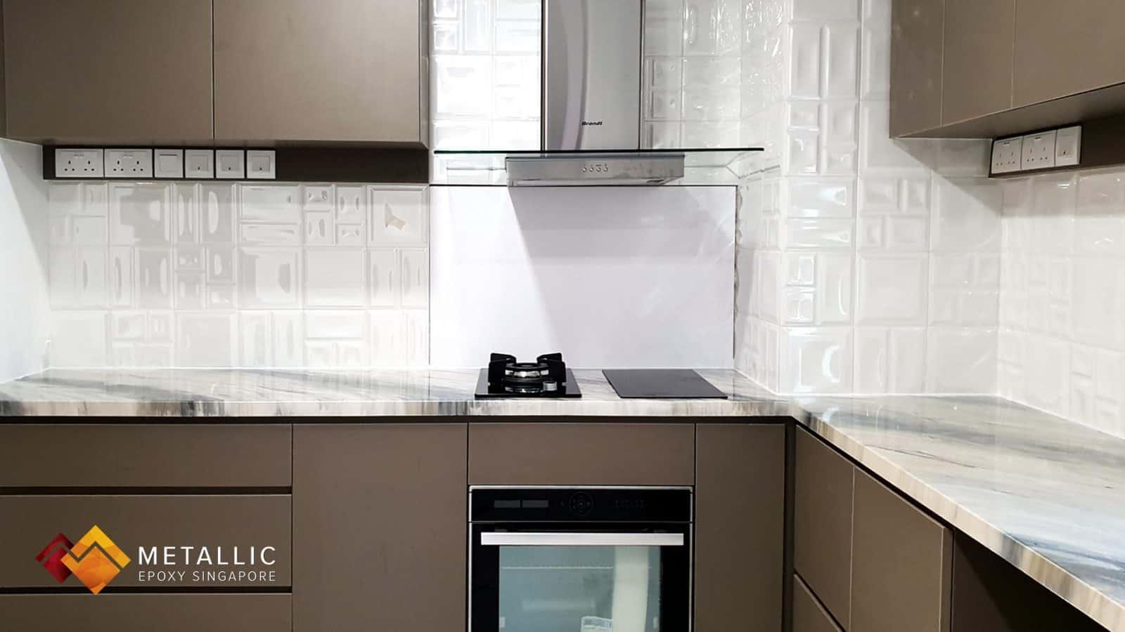 Khaki Grey Marble Countertop