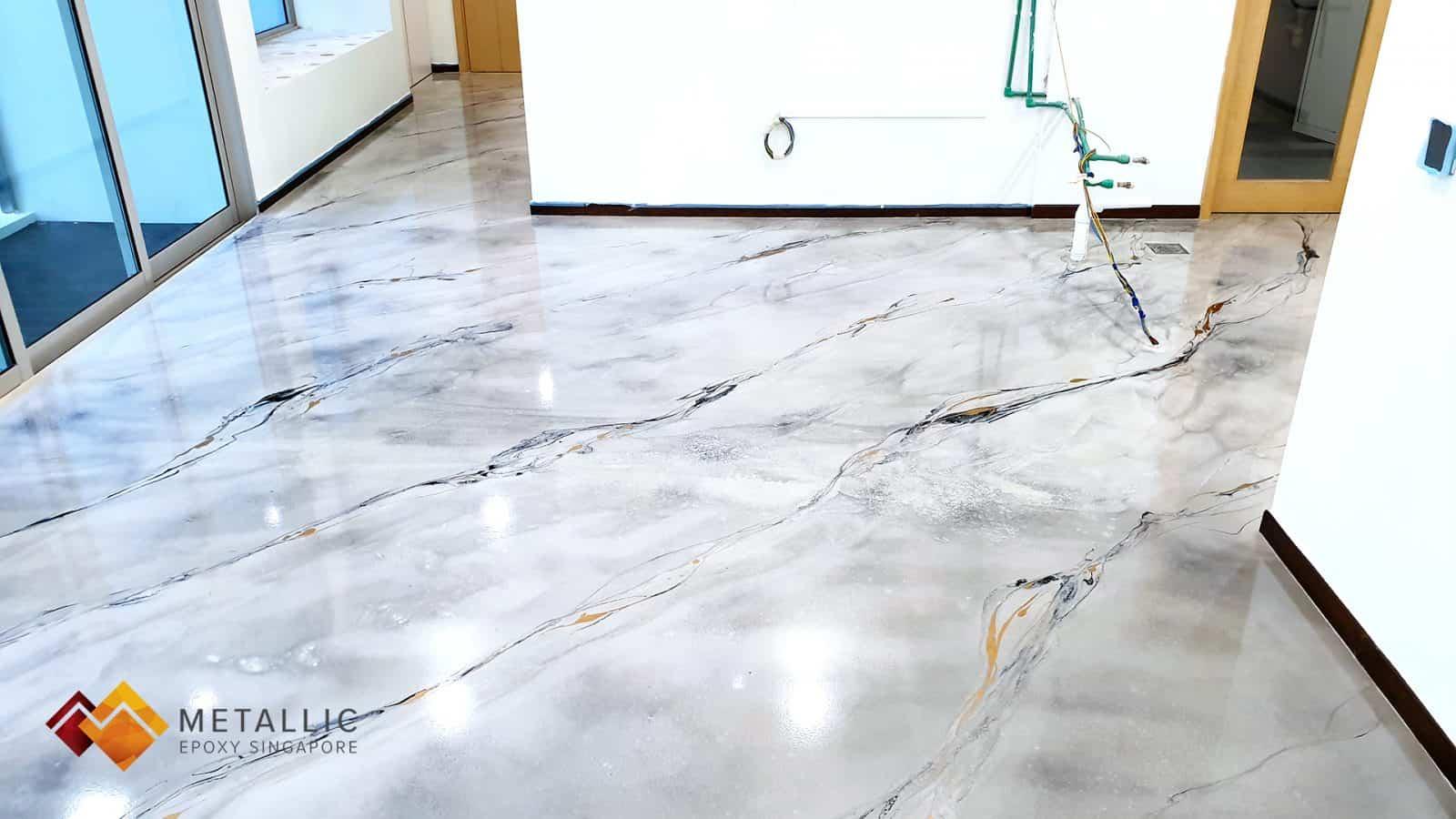 Harlequin White Marble Flooring