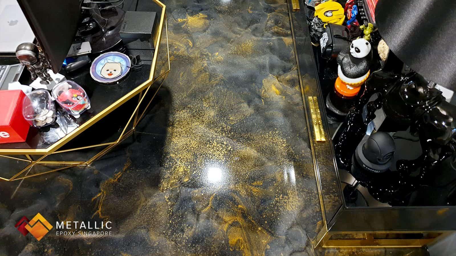 Metallic Gold Galaxy Flooring