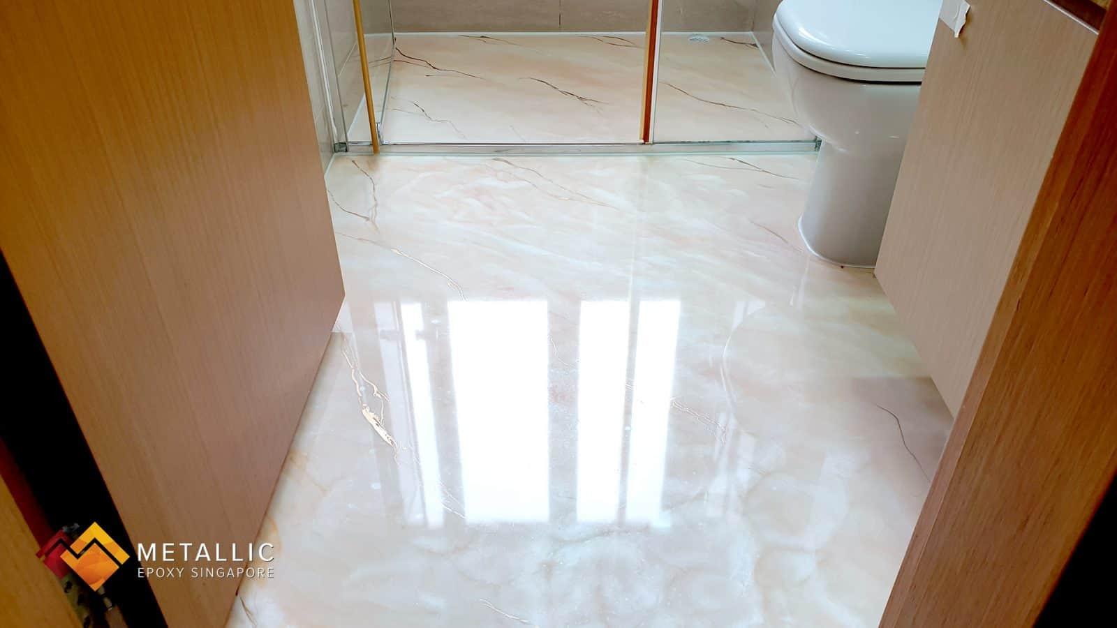 Snow White Bathroom Flooring