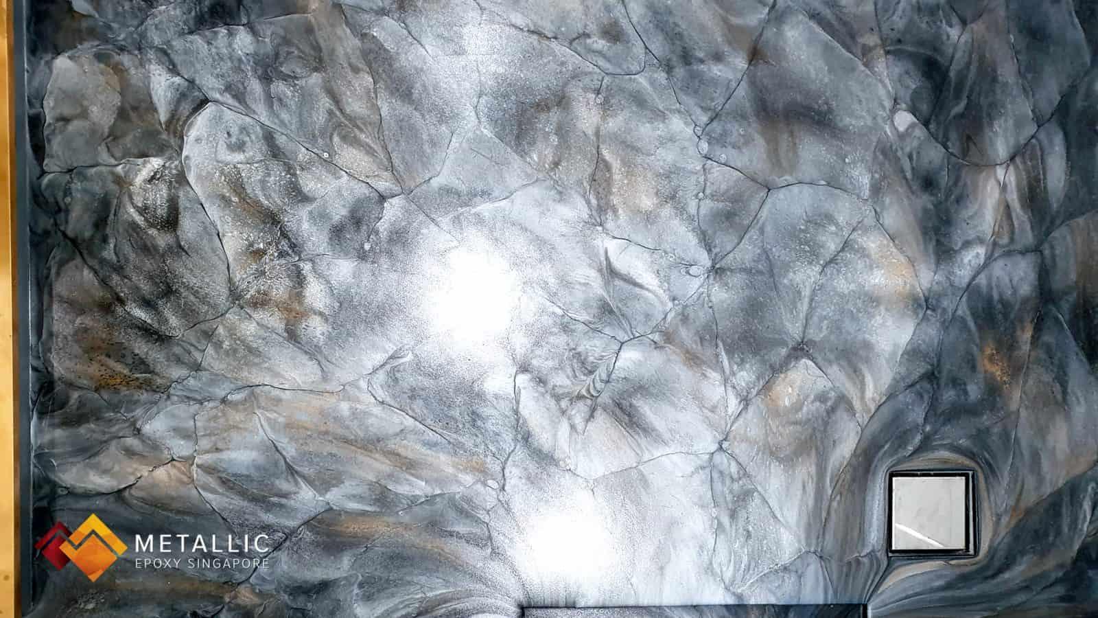 Metallic Stone Bathroom Flooring