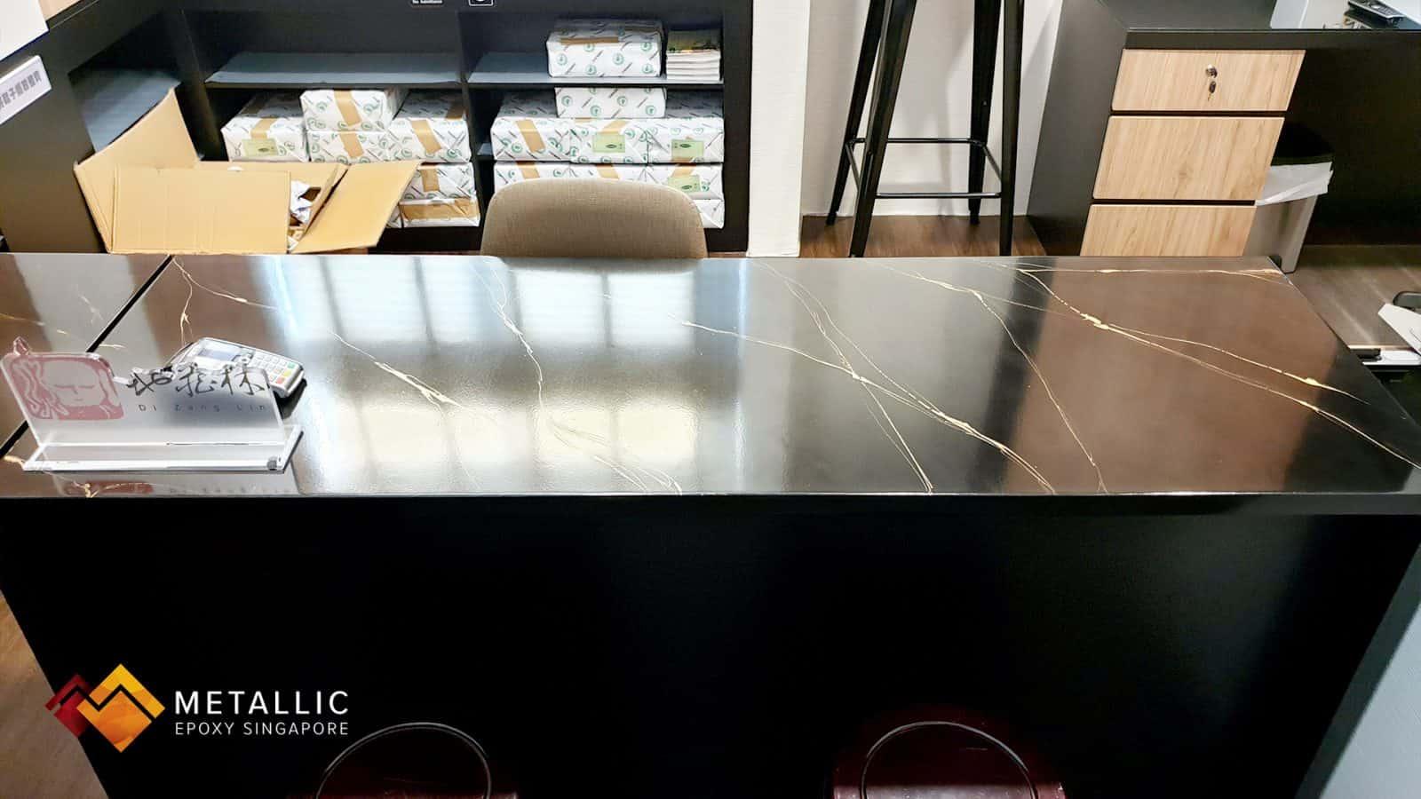 Metallic Epoxy Tabletop