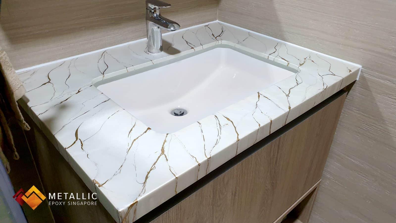 Gold Marble Vanity Top