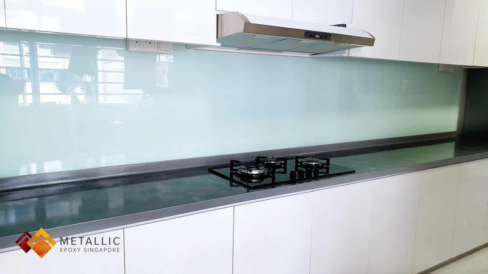 Metallic Grey Swirl Countertop