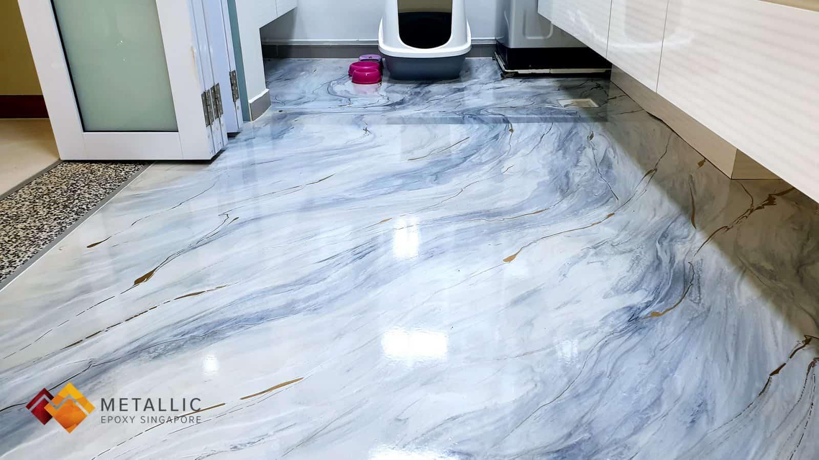 Marian Blue Marble Flooring