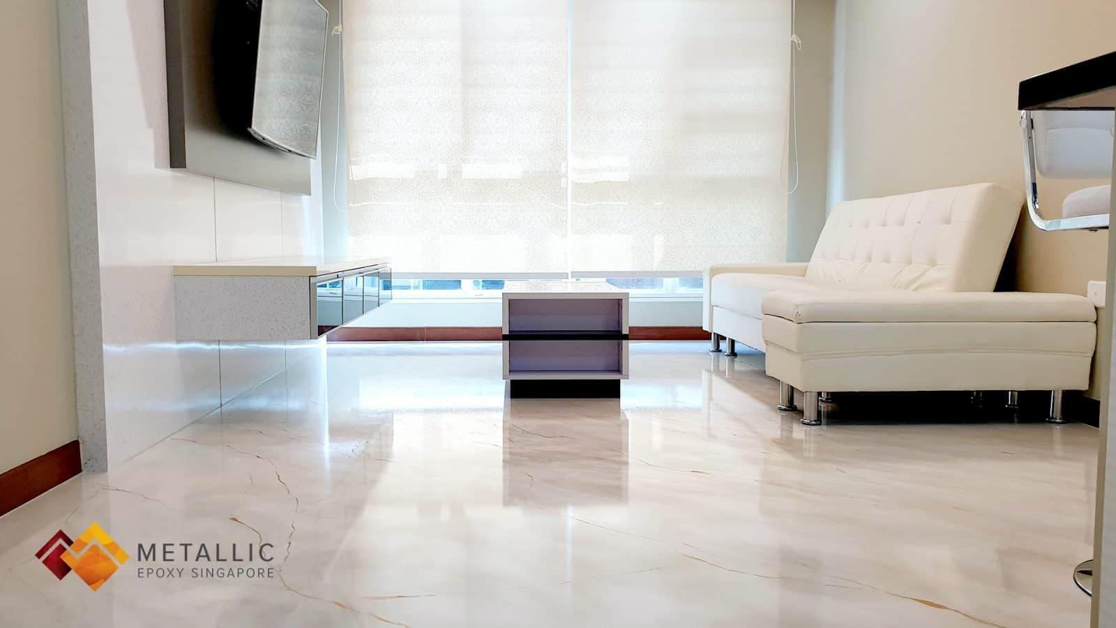 Swiss Coffee Marble Flooring