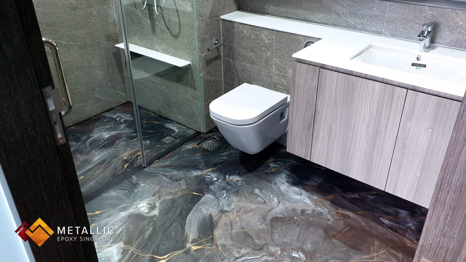 Tarnished Silver Bathroom Flooring