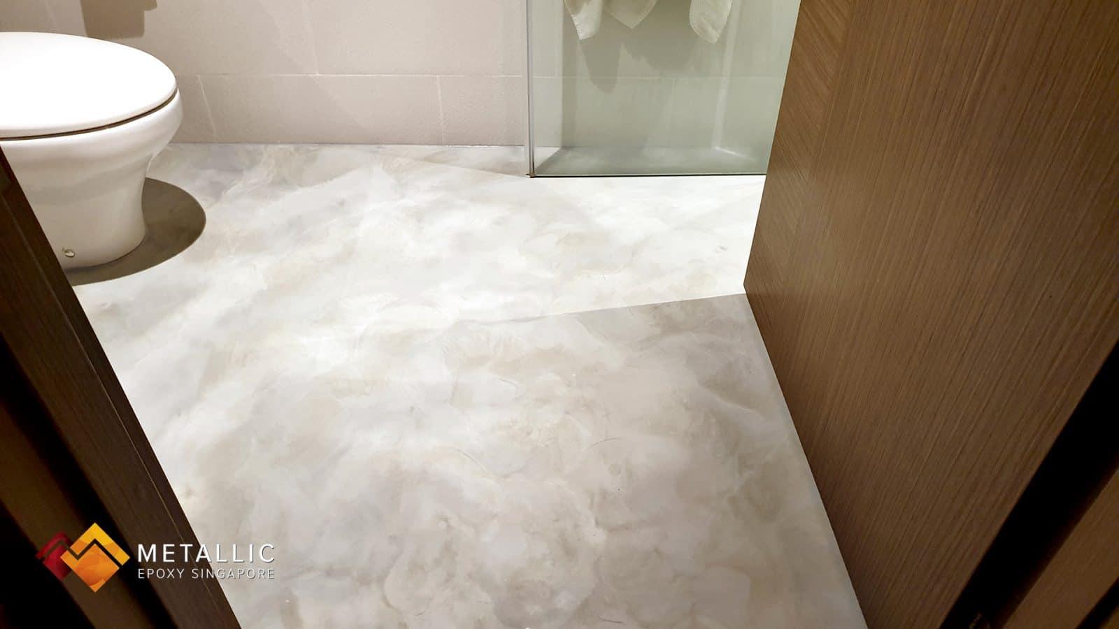 Industrial Concrete Bathroom Flooring