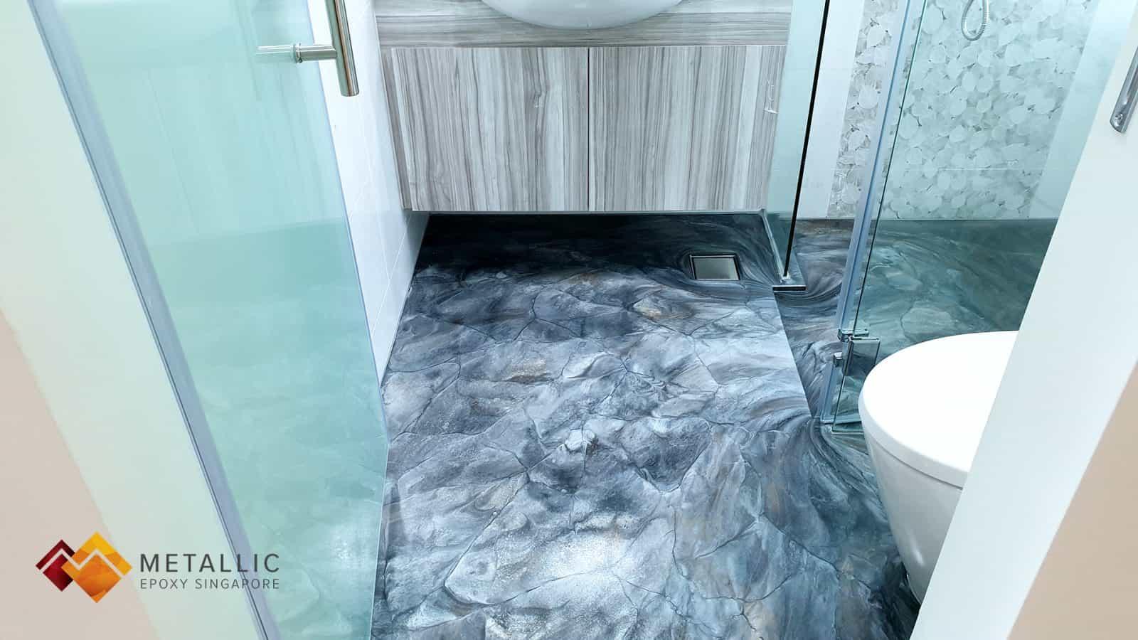 Metallic Granite Bathroom Flooring