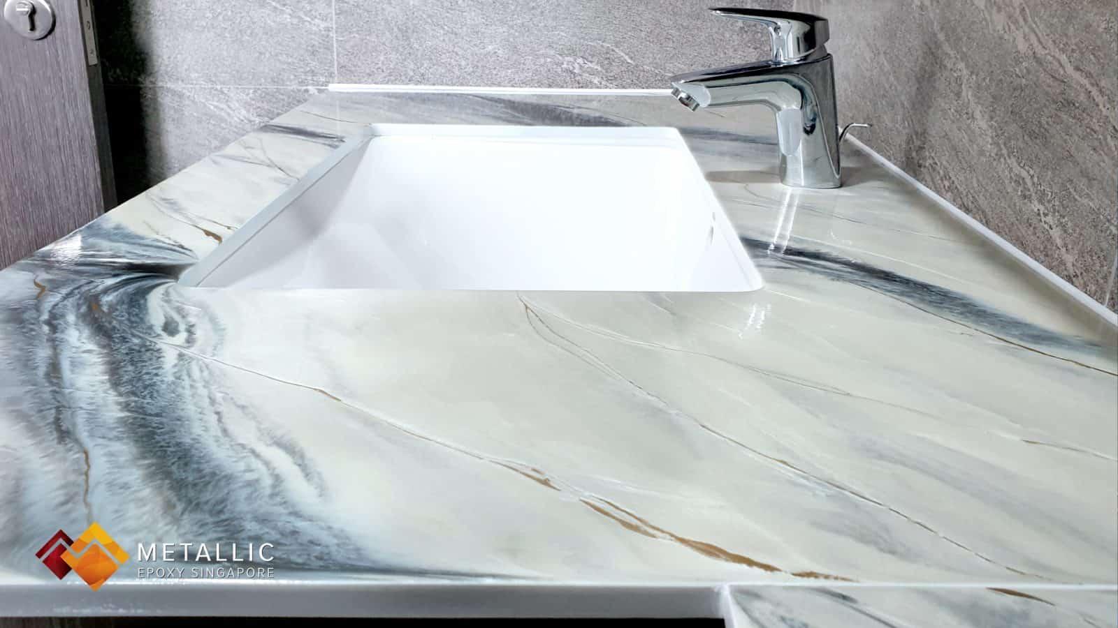 Metallic Epoxy Vanity Top