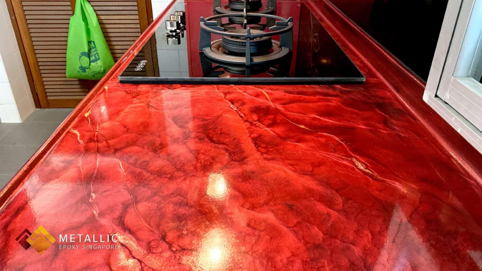 Metallic Lava Marble Countertop