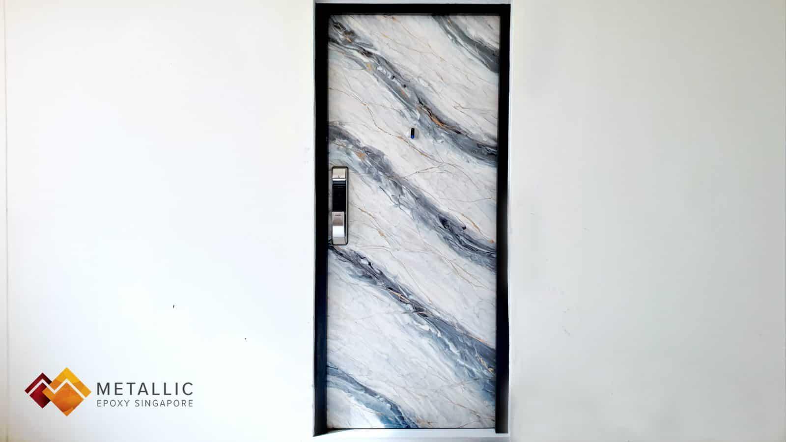 Grey Silver Marble Door