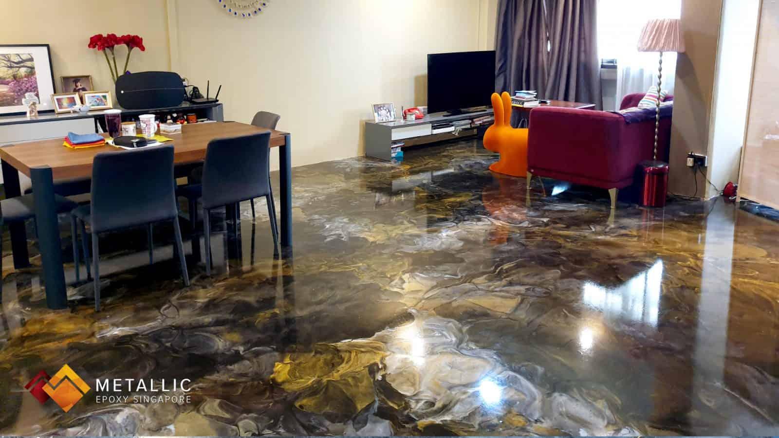 Metallic Cocoa Brown Flooring