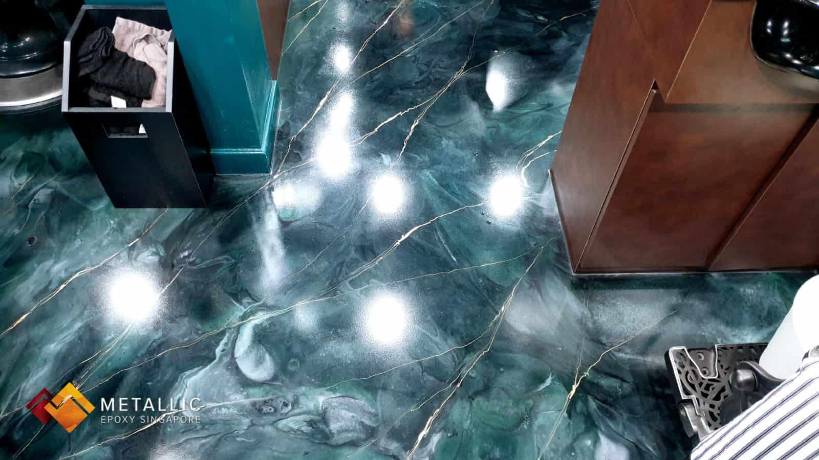 Emerald Green Marble Flooring