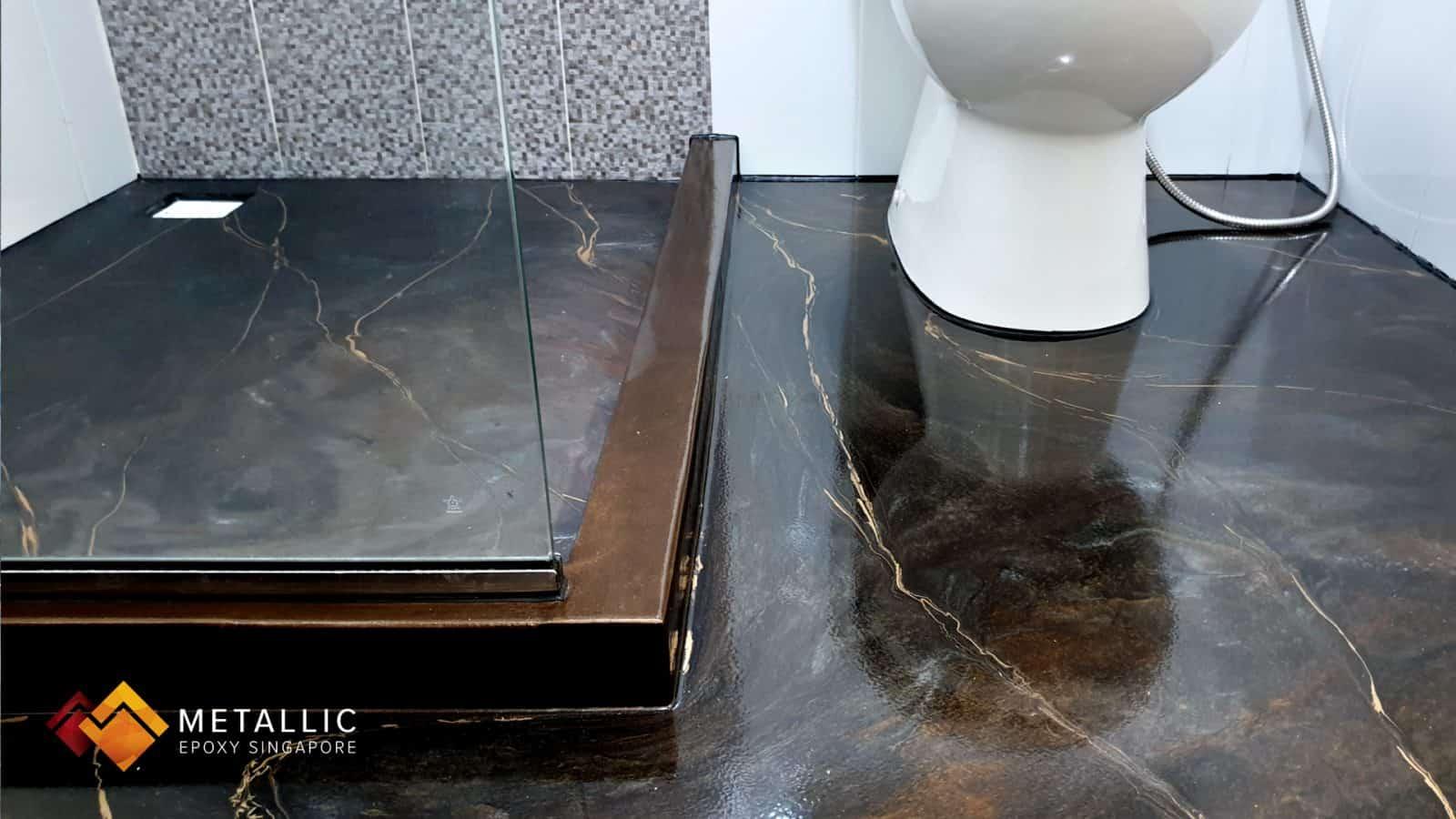 Chrome Coffee Bathroom Flooring