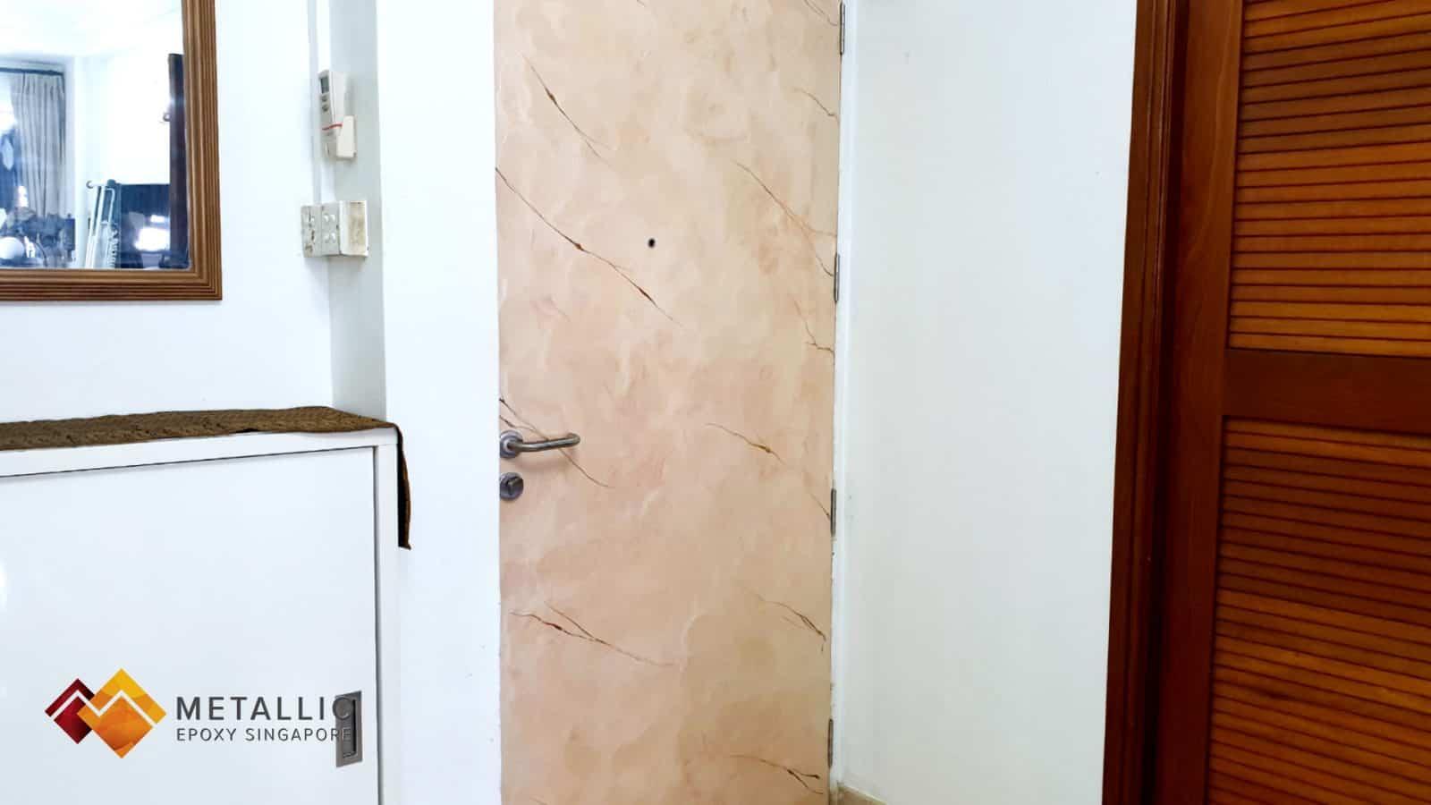 metallic epoxy door