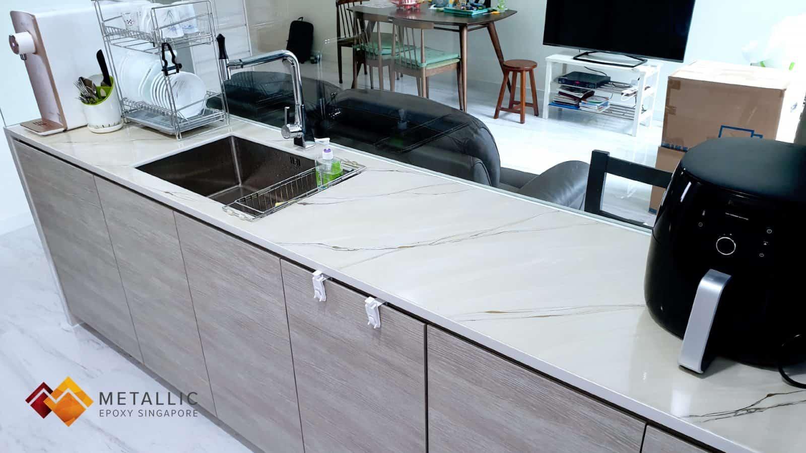Light Khaki Marble Countertop
