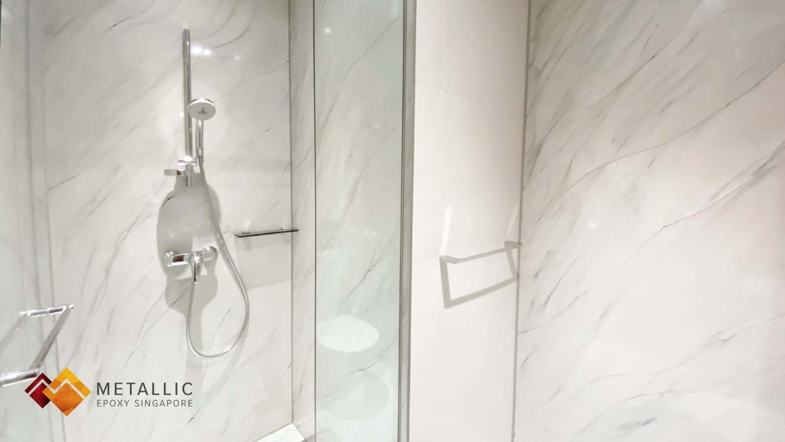 Natural White Marble Bathroom