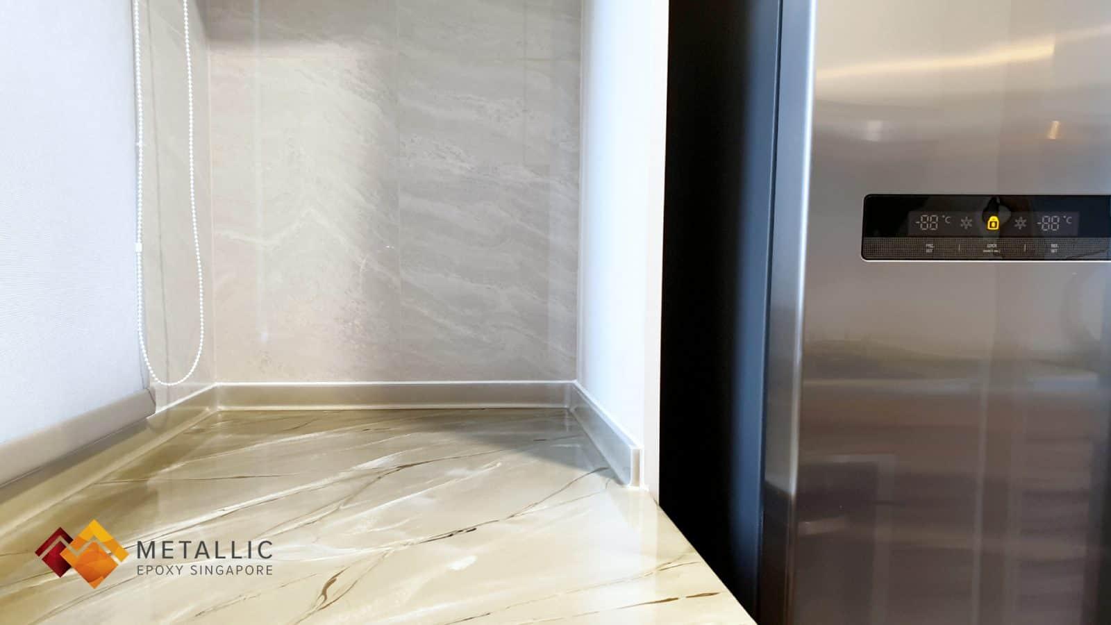 Khaki White Marble Countertop