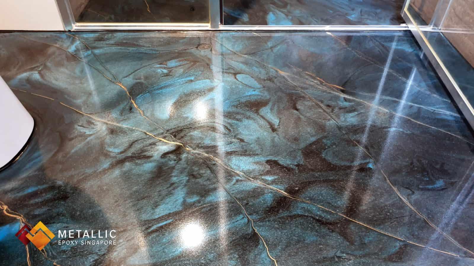 Denim Galaxy Bathroom Flooring