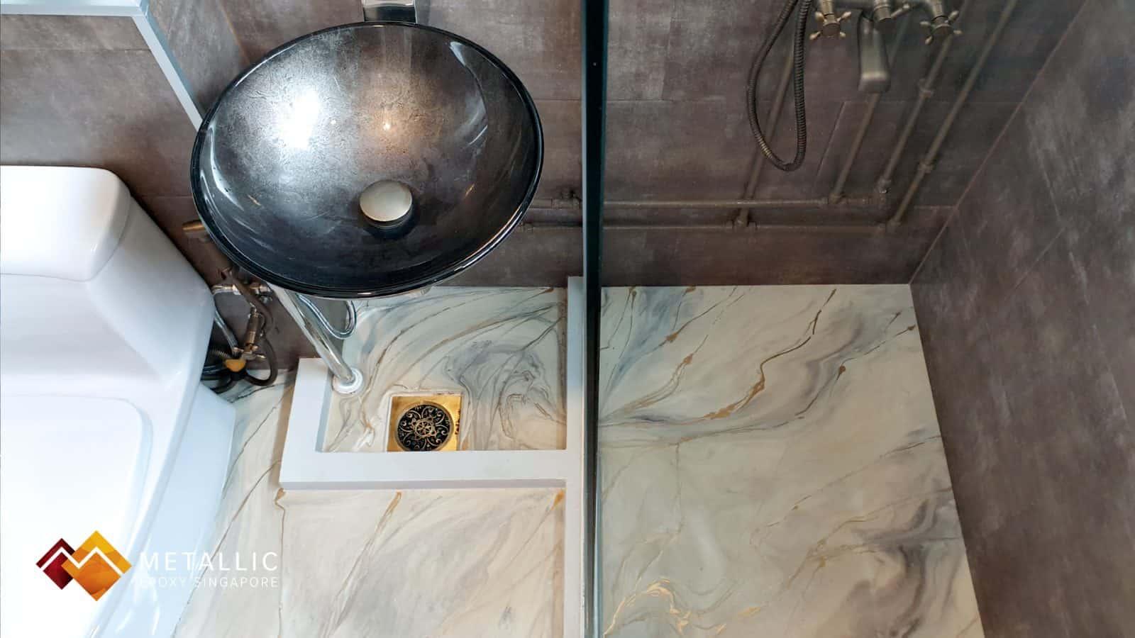 Grey Cloud Bathroom Flooring