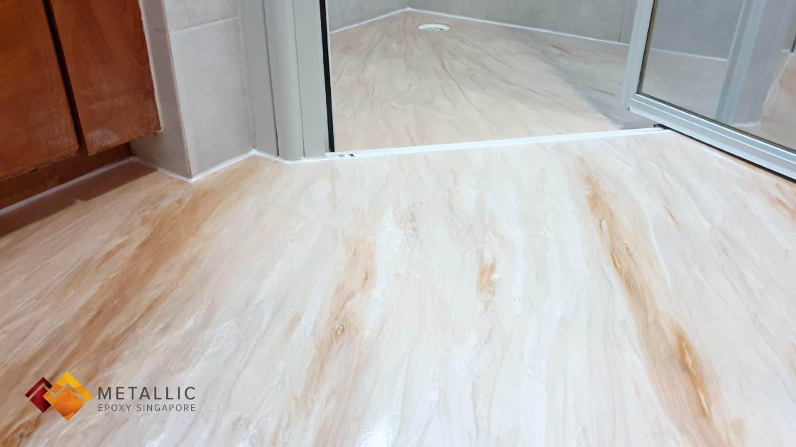 Orange Mix Bathroom Flooring