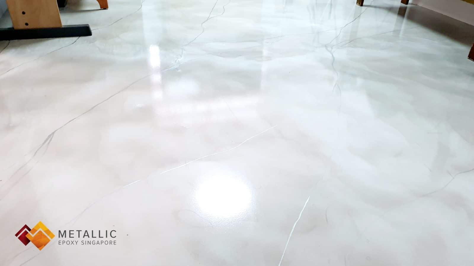 metallic epoxy singapore silver khaki bedroom living room floor