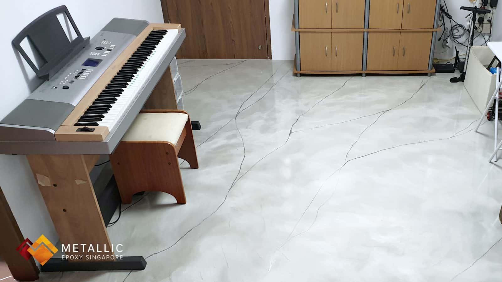 Silver Khaki Mixed Bathroom Flooring