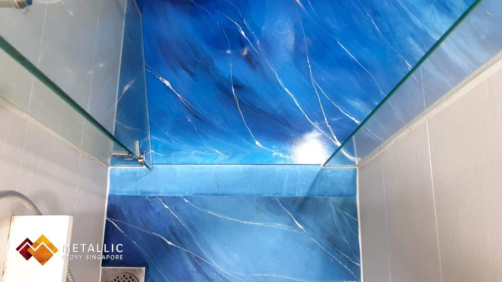 Shore Blue Bathroom Flooring