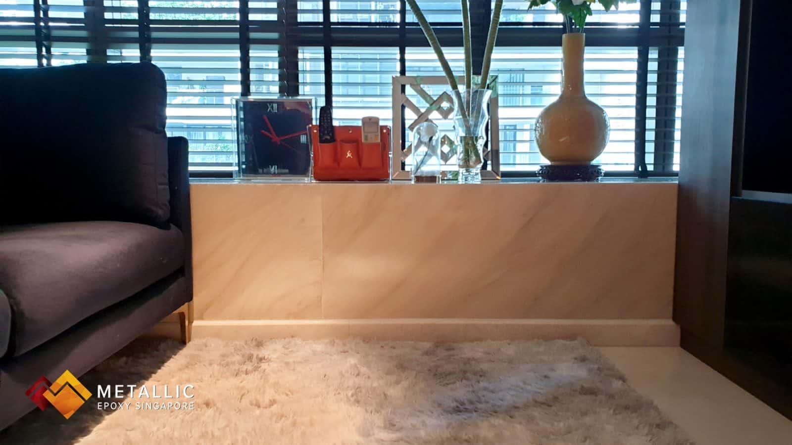 Khaki Marble Highlights Countertop