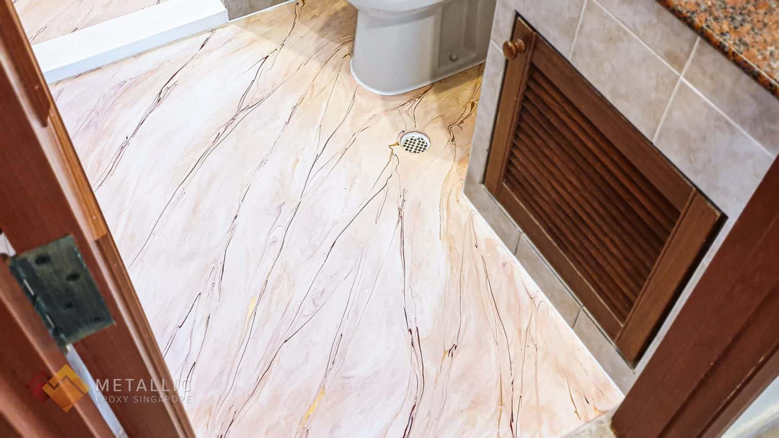 Burgundy Marble Bathroom Flooring