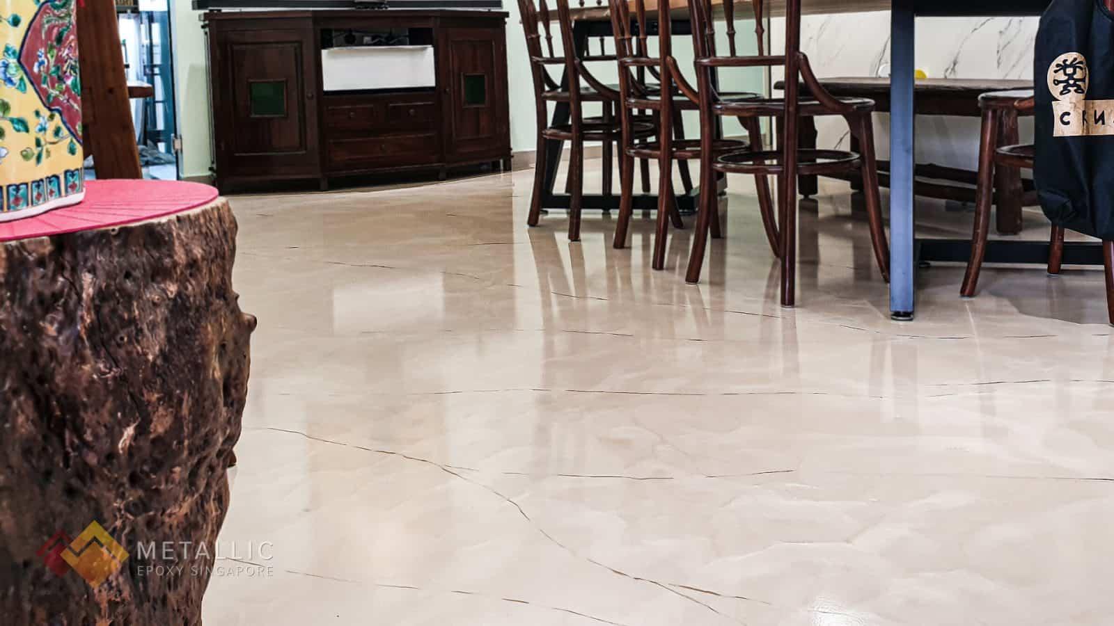 Rose Beige Marble Flooring