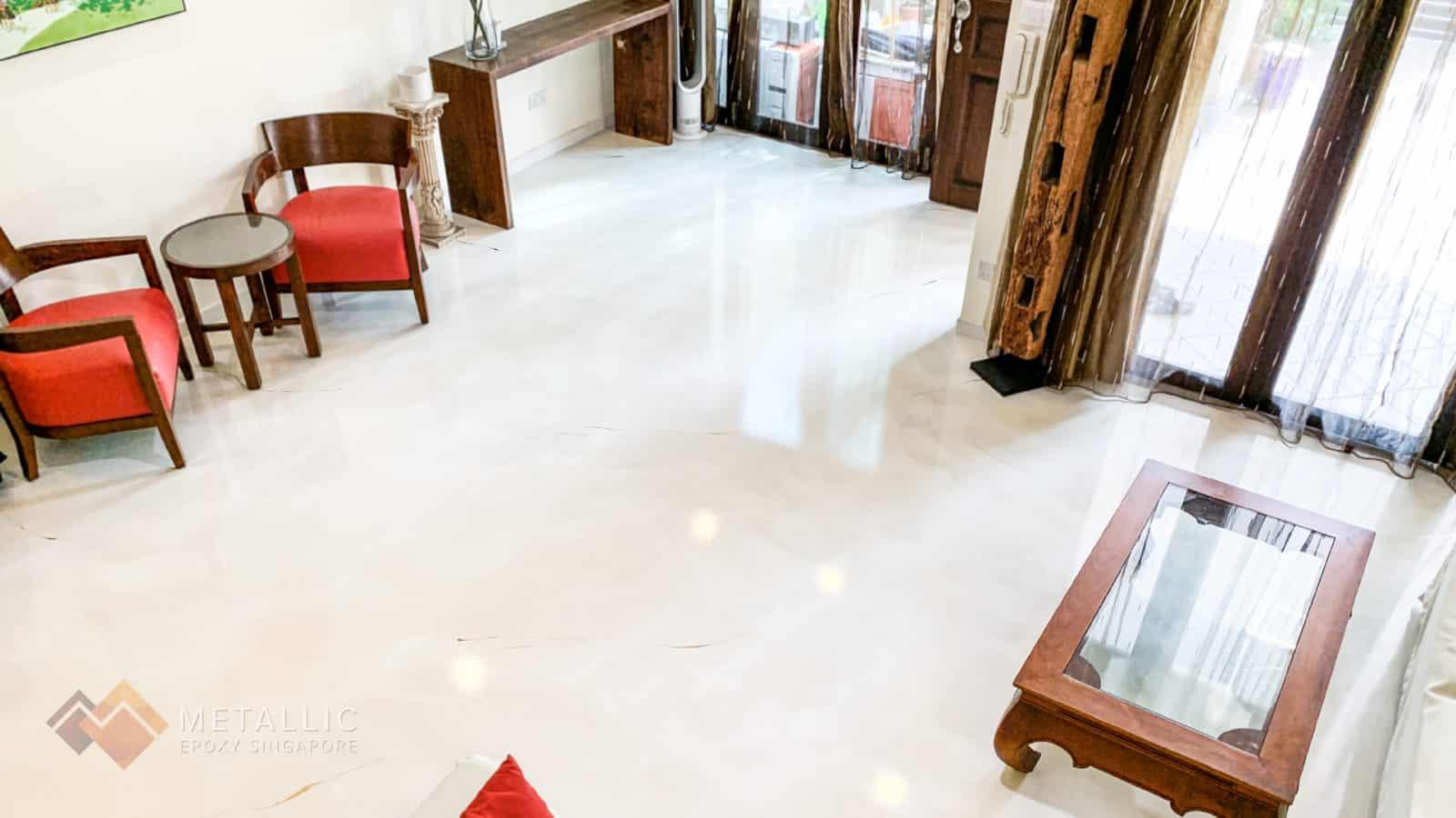 Subtle Chrome Marble Flooring