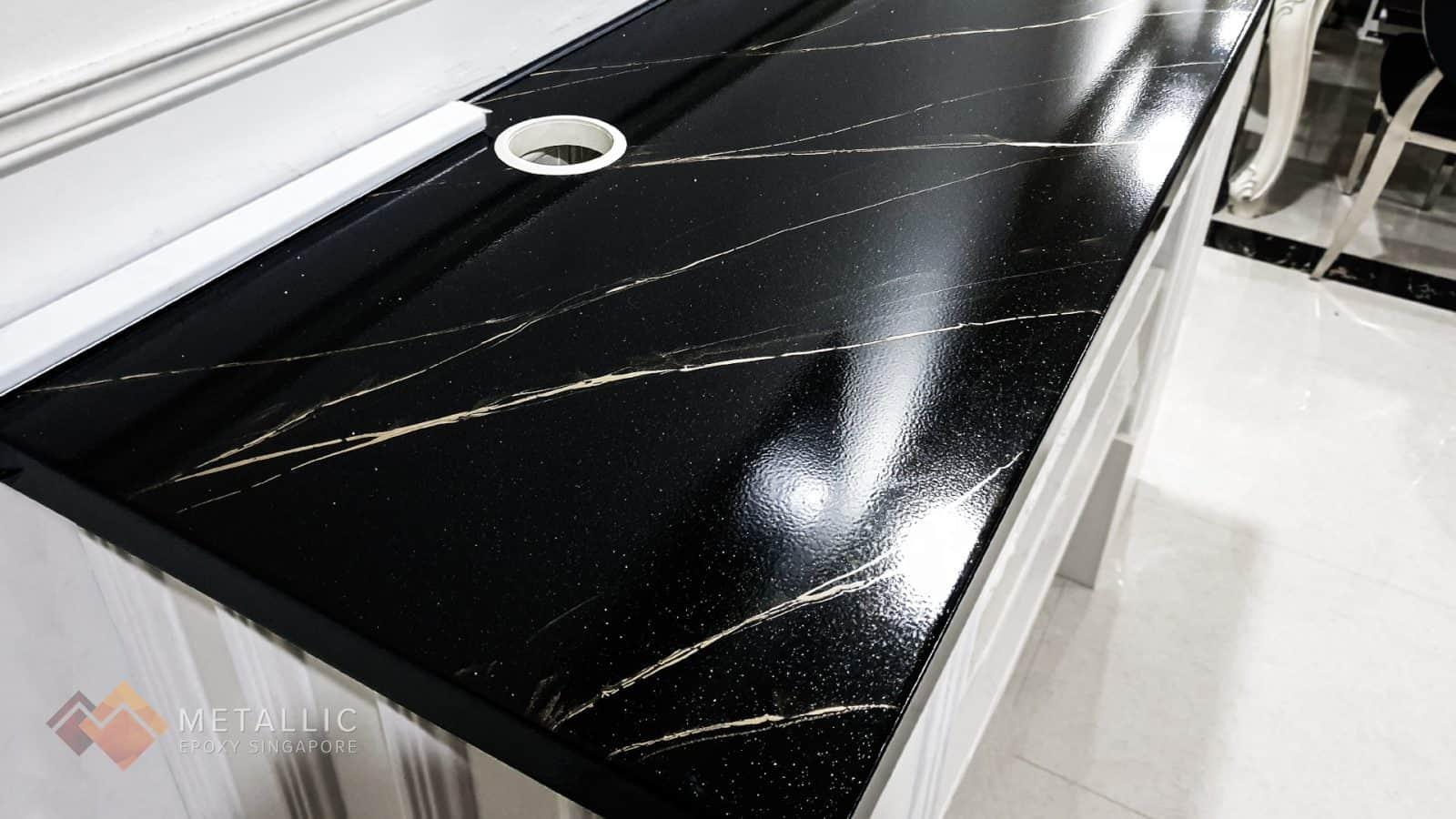 Black Liquid Diamonds Countertop